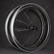 Rodas baratas 30/35/38/50/60/80/90mm da bicicleta da estrada do oem da bicicleta do carbono completo