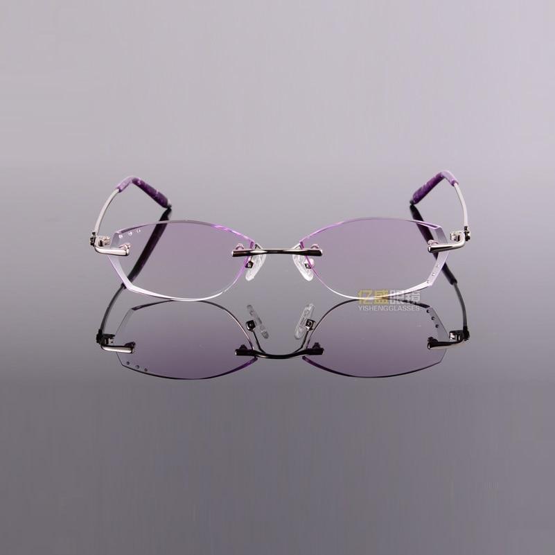 Farbverlauf Frauen purple Weibliche Kleine Len Getrimmt tea Rezept Fertig Gesicht 127 Width Blue Aluminium Getönte Gläser Diamanten platte Rahmenlose xYqTI