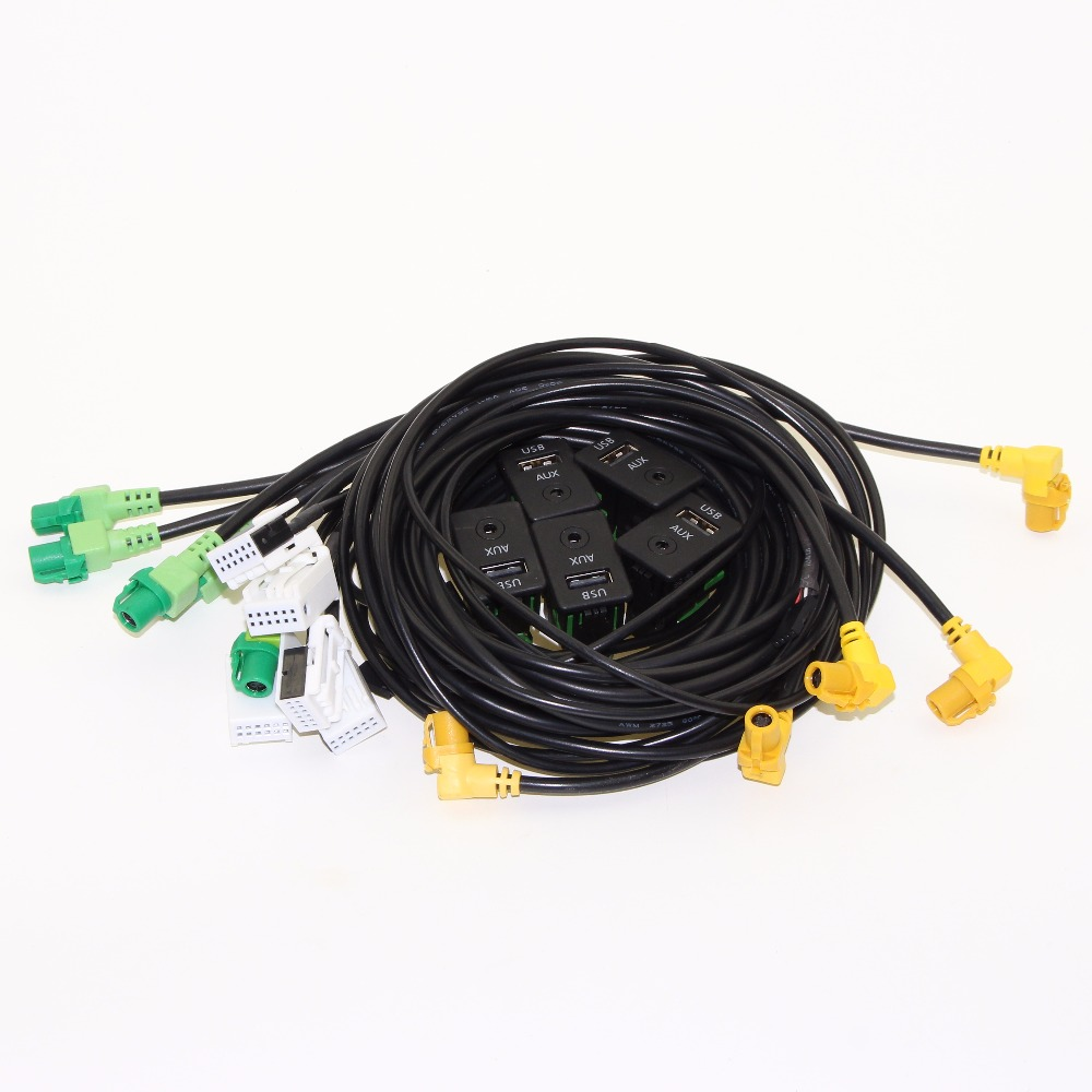 5pcs OEM Passat Tiguan Touran USB+AUX Switch Plug USB AUX Surface Housing+Cable For RCD510 3CD 035 249 A 3CD035249A yatour car digital music cd changer aux mp3 sd usb adapter 17pin connector for bmw motorrad k1200lt r1200lt 1997 2004 radios