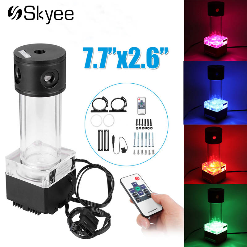 все цены на RGB Computer Cooling Pump Water Liquid Cooling Tank Acrylic Aluminum Remote Controll Water Cooler Tank For PC CPU Cooling System