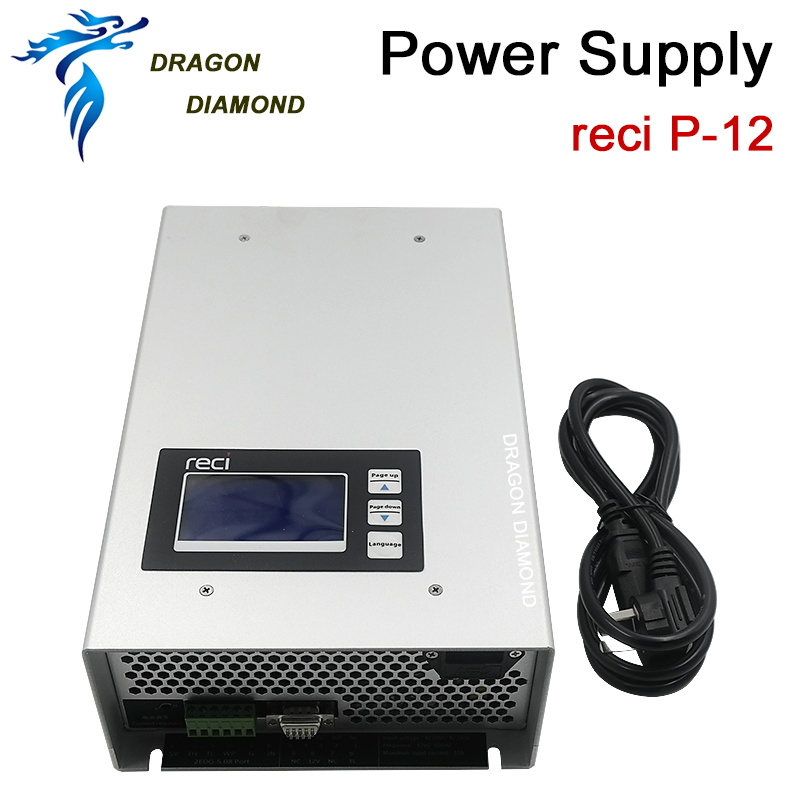 Reci power source 80w 90w 100w 130w 150w 180w P12 P14 P16 P18 Laser Power Supply tube for CO2 Laser Engraving Cutting Machine mean power 80w highest 100w laser tube length 1300mm 80w laser tube for arcylic laser engraving cutting machine