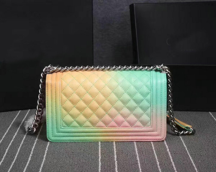 Fashion Luxury Brand New Top Quality Caviar Rainbow Le Boy Crossbody Bag Shoulder Silver Hareware Chain Bag Free Shipping DHL brand new module 1746 ob16e with free dhl