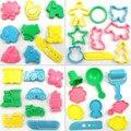 Ferramentas de lodo 36 pçs/lote modelo ferramenta criativa playdough plasticina 3d ferramentas play dough set kit crianças brinquedos presente das crianças