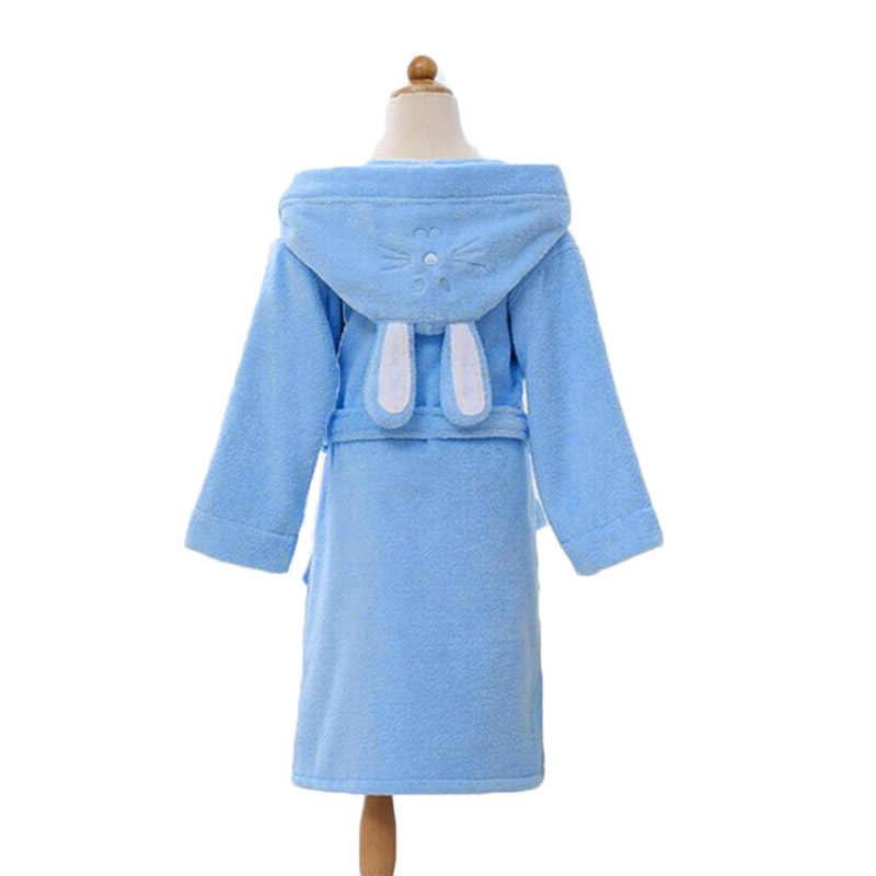 2f4ef00b77 ... Hooded Towel Child Bathrobe Kids Boys Girls Robe Cotton Lovely Bath  Robes Dressing Gown Roupao Kids ...
