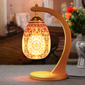 Antique Lamp Living Room Retro Golden Table Lamp Study Table Lamp Old Fashion Ceramic Table Lamp
