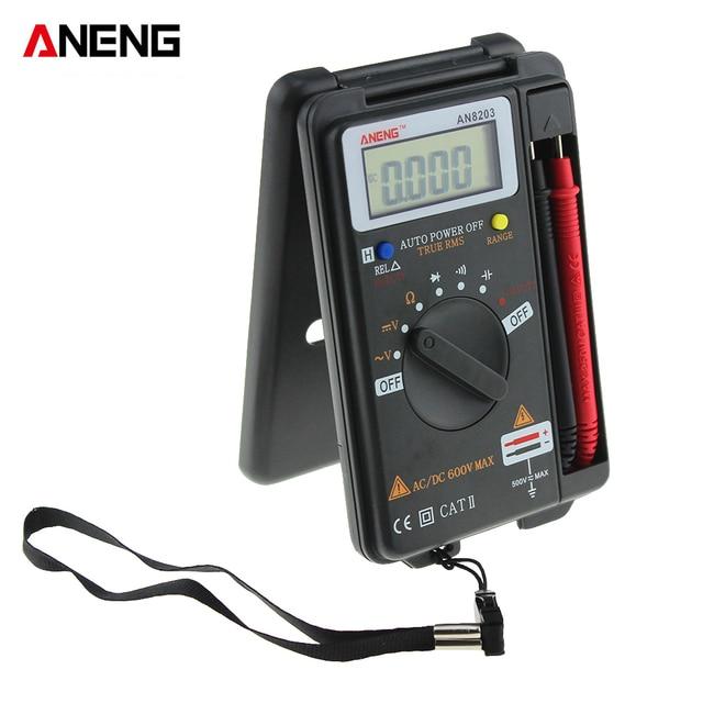 ANENG AN8203 4000 counts Mini Digital Multimeter AC Voltage Current Tester Multimeter Ammeter