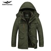 冬のジャケット男性カジュアル綿厚い暖かいコートメンズ生き抜くパーカープラスサイズ5xlコート防風雪軍事ジャケット190z