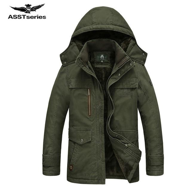 879072c9a9b47 Winter Jacket Men Casual Cotton Thick Warm Coat Men s Outwear Parka Plus  size 5XL Coats Windbreak Snow Military Jackets 190z