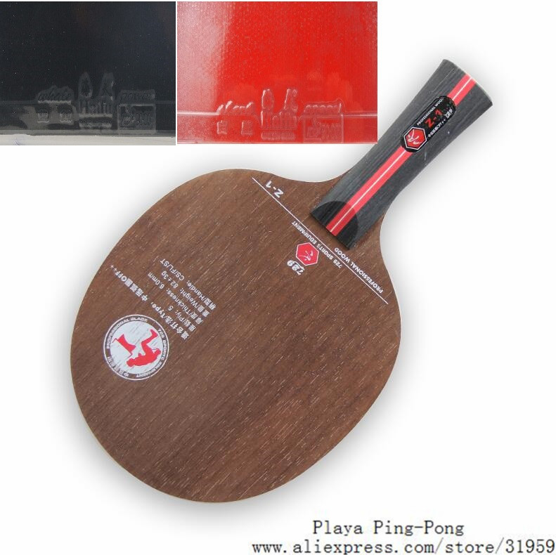 ФОТО 729 Friendship Z-1 (Z1 Z 1) table tennnis blade with Haifu shark and whale rubber (1Red +1Black) With Sponge PingPong Racket