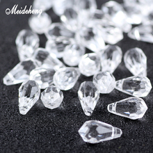 Meideheng Acrylic Beads Transparent Imitated Crystal Butterfly Water Drop Beads For Needlework Accessories For Jewelry Making meideheng acrylic circle beads transparent electroplating slime crystal mud filler ornament accessories for hair ring needlework