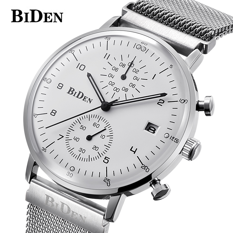 Wrist Watch Men Watches BIDEN Top Brand Luxury Famous Wristwatch Male Clock Quartz Watch Hodinky Quartz-watch Relogio Masculino gold men watches 3d sculpture dragon creative men watches top brand luxury quartz wrist watch male clock relogio masculino biden