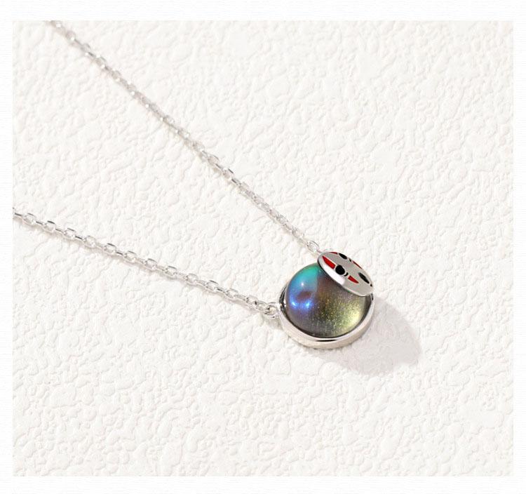 Leouerry ожерелье из стерлингового серебра 925 пробы с круглым