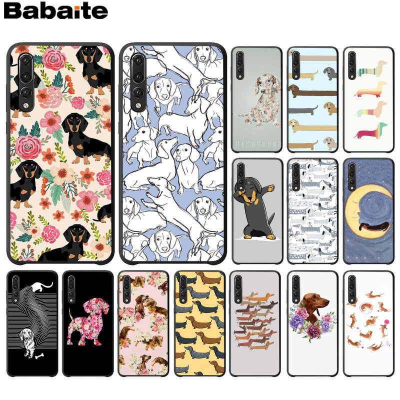 Babaite Animals Dogs Dachshund Black Soft Shell Phone Cover for Huawei P10 plus 20 pro P20 lite mate9 10 lite honor 10 view10