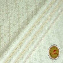 High Quality Free Shipping Guinea Brocade Fabric Cream Bazin Riche 10Yards/Bag New Fashion African Garment Shadda Damask