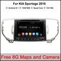 Quad Core Android 5.1 GPS Do Rádio de Carro para Kia Sportage Carro DVD jogador 2016 2017 áudio Estéreo Suporte Quad-Core Wi-fi 3G DAB DTV DVR