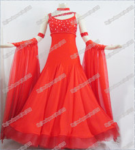 High Quality Waltz Tango dance Dress competitive Ballroom dance dress, crystal stones chacha,salsa dance ballroom dress B-0521