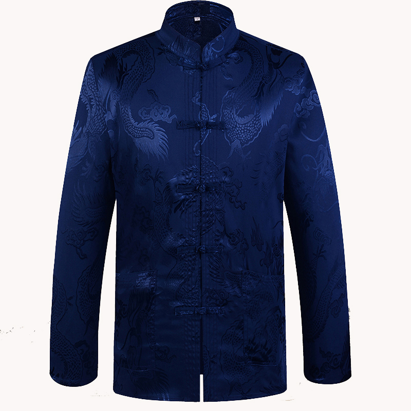 Image 3 - Brand New Arrival Chinese Traditional Mens Satin Mandarin Collar Dragon Silk Tang Suit Clothing Kung Fu Jacket Coat YZT1205traditional menmandarin collarchinese traditional men -