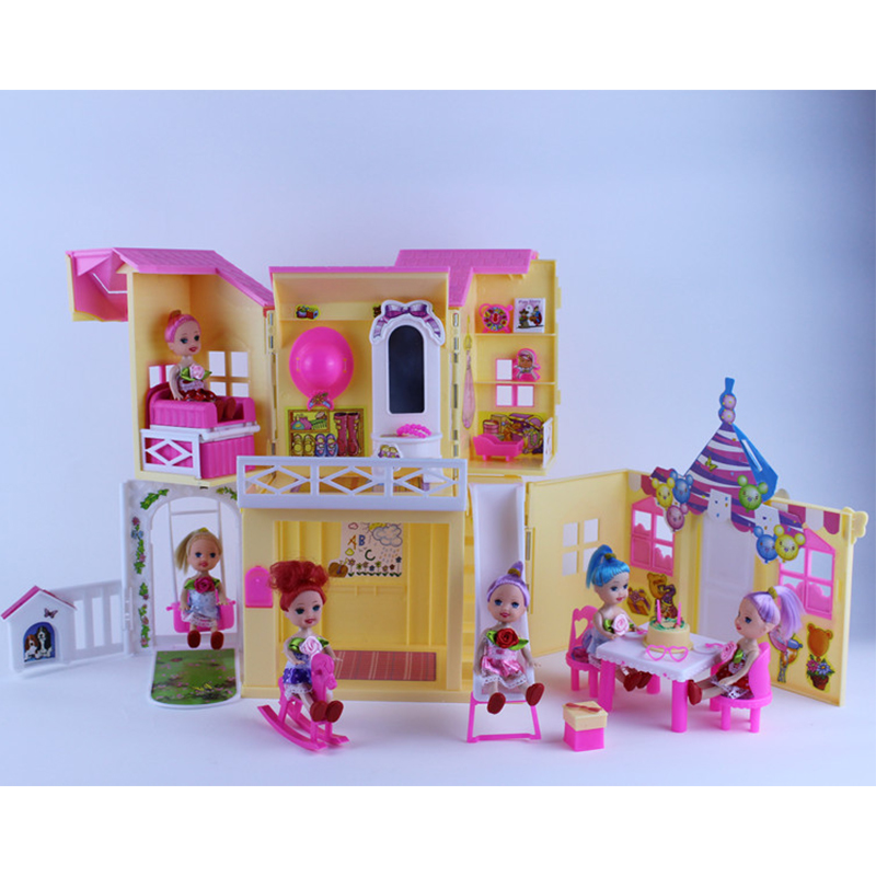 American Doll Sweet House for Barbie Kurhn Liv Dolls Baby Doll Toys for Girls Best Gift  2016 new 1pcs lot bedroom furnitures for barbie dolls monster hight dolls for baby girls play house toys girls baby t03022