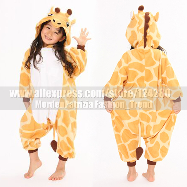 kids baby girls giraffe onesies tracksuit autumn winter halloween costume for child cartoon animal cosplay pajamas