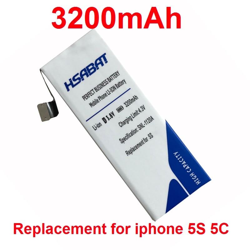 imágenes para HSABAT teléfono inteligente de la batería 3200 mAh Batería Uso para Apple Iphone 5S/para iphone5S/5c iphone/para iphone5c