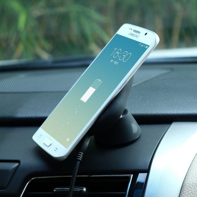 Antye qi sem fio carregador de carro montar titular para o iphone 6 6 s/6 Plus 6 S Plus Com Caso e Outro Sem Fio Receptor Qi Smartphone