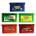 Nintendo GBA GAame Pokemons Colectivo Edición Tarjeta de Cartucho de Consola de Videojuegos para Game Boy Advance Inglés Versión