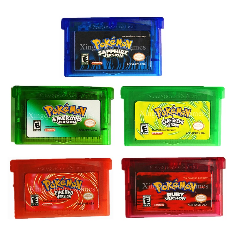 Nintendo GBA GAame Pokemons Collective Edition Video Game Cartridge Console Card for Game Boy Advance English Version 10pcs for nintendo gameboy advance sp gba sp ags 101 highlit screen lcd oem backlit brighter