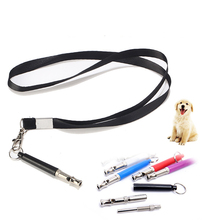 Adjustable Pet Dogs Training Whistle With Rope Stop Barking Ultrasonic Sound Flute Pets Discipline Supplies Silent Control Tools