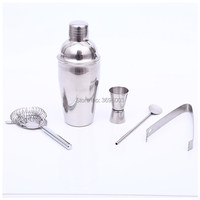5Pcs 550ml Stainless Steel Cocktail Shaker Bar Set Wine Martini Drink Mixer Bar/Party Tool Bartender Cocktail Shakers