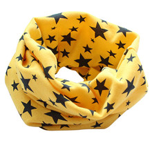 Stars Children s Cotton Neckerchief Kids Boy Girl Scarves Shawl Unisex Winter Knitting