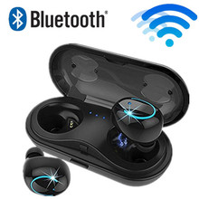 лучшая цена HBQ Q18 TWS MINI wireless headphones bluetooth noise canceling earphones phone earbuds headset with microphone Charging Case
