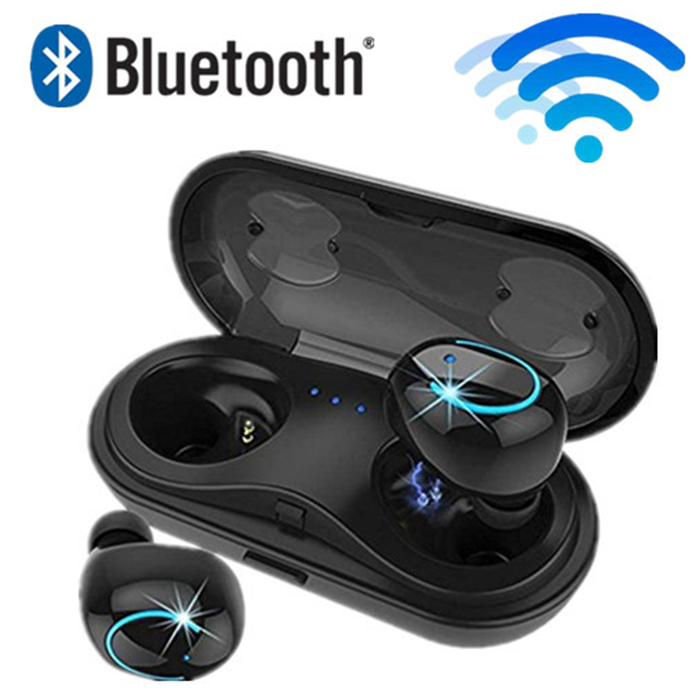 HBQ Q18 <font><b>TWS</b></font> MINI wireless headphones bluetooth noise canceling earphones phone earbuds headset with microphone Charging Case image