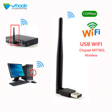 Vmade Mini usb inalámbrico wifi 7601 inalámbrico de 2,4 Ghz 2dBi wifi adaptador para DVB-T2 y DVB-S2 TV BOX antena WiFI tarjeta de red LAN(China)