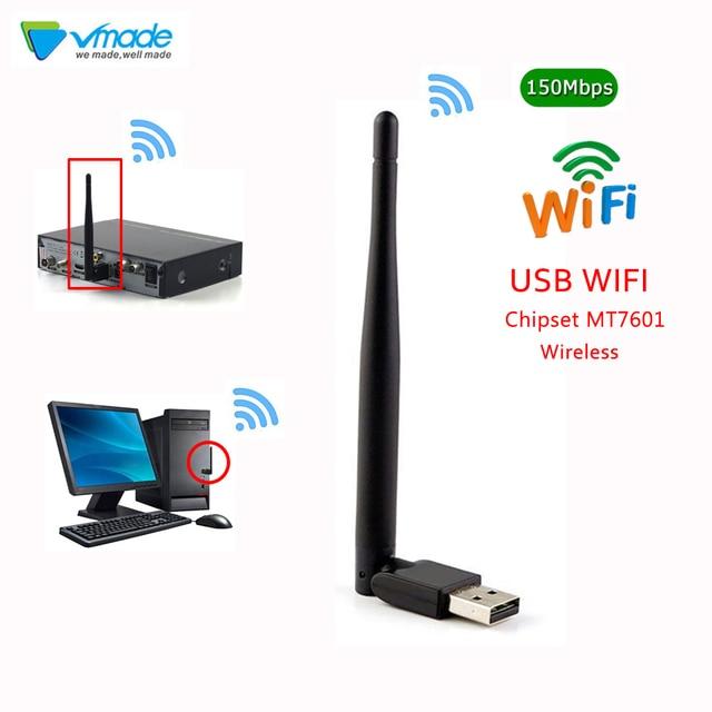 Vmade מיני אלחוטי usb wifi 7601 2.4Ghz אלחוטי 2dBi wifi מתאם עבור DVB-T2 ו DVB-S2 טלוויזיה תיבת WiFI אנטנה רשת LAN כרטיס