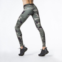women skinny workout leggings womens Camouflage pattern shiny legging push up ankle length exercise pants slim stretch leggins