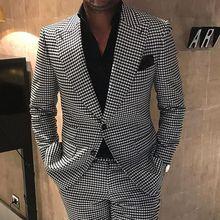 Exclusivo suit Men 2 Pieces Suits Jacket with Pants Slim Fit