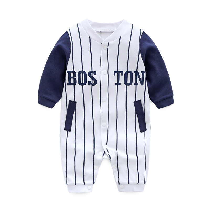 2018 spring Autumn baby boy clothing Cotton Long Sleeved baby boy clothes cartoon Gentleman baby   romper   Infantil babies Clothing
