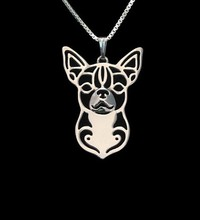 Gold & silver  cartoon Boho Chic Alloy Chihuahua necklace Chihuahua dog pendant jewelry Silver gold colors plated
