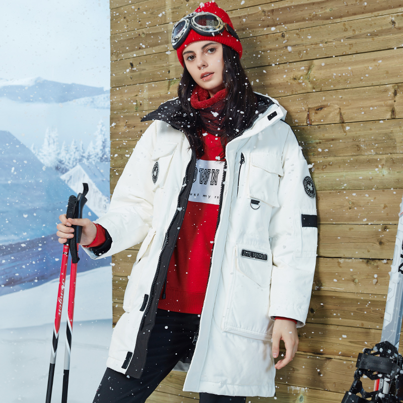 Fashion Couple   Down   Jacket Women Winter Outdoor Snow Hooded Parka Women Clothes 2019 New Arrival Winter 90% Grey Duck   Down     Coat