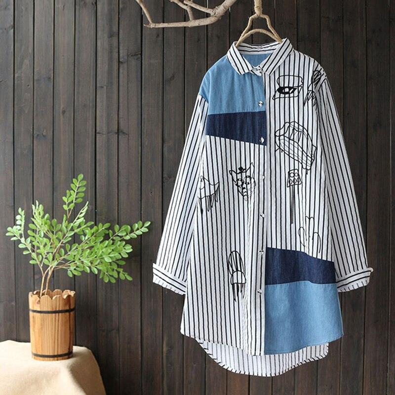 Long shirt female Chinese style women clothing blouse 2018 long kimono female ladies womens tops and