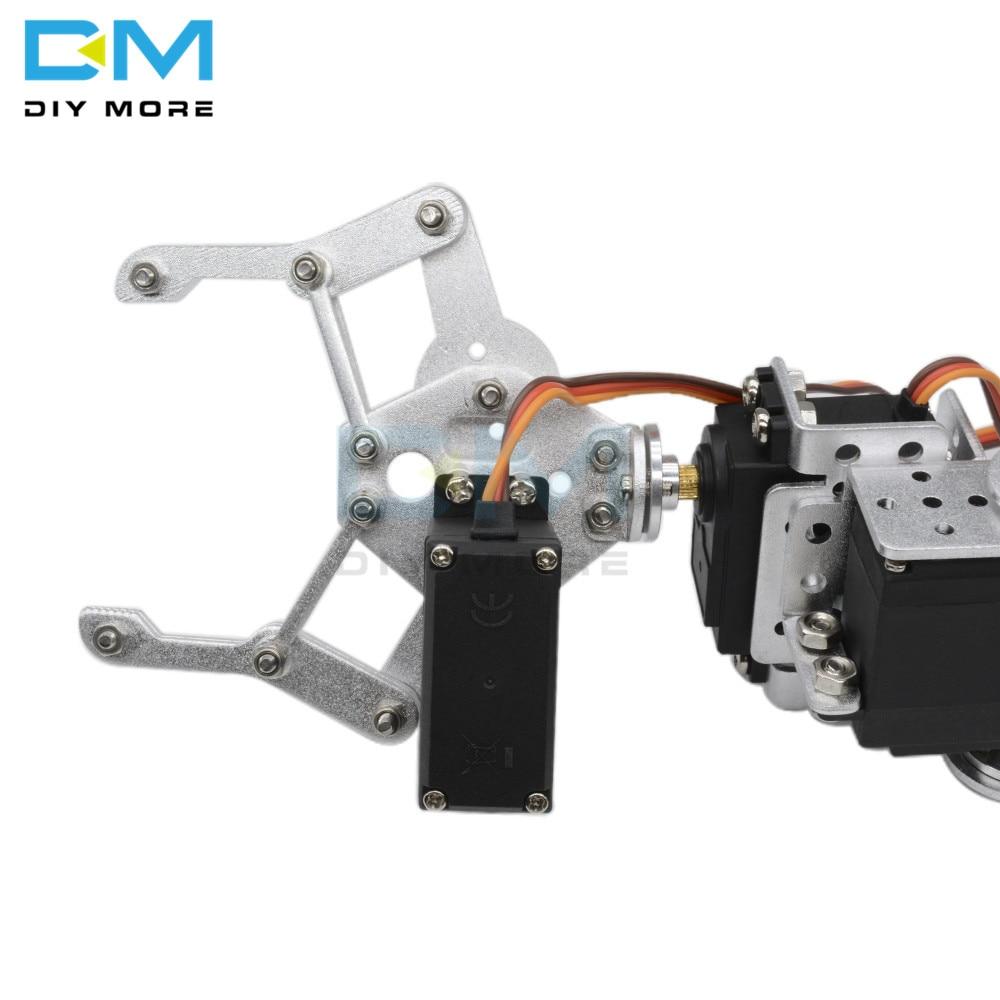 Image 2 - マニピュレータ ROT3U 6DOF アルミロボットアームの機械ロボットクランプ爪 arduino のためのシルバー -    グループ上の 電子部品