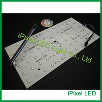12x6 DMX 패널 빛, 알루미늄 프로파일 rgb 도트 매트릭스, 단단한 led 디스플레
