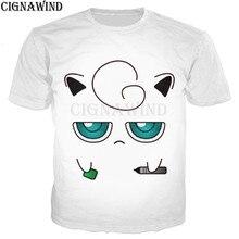 1b63b554 New arrival anime Pokemon jigglypuff t shirt men/women 3D printed t-shirts  casual