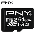 PNY Official Micro SD Card 32GB C10 8GB/16GB/64GB Class10 UHS-1 Memory Card Flash Memory Microsd TF Card for Smartphone/Tablet