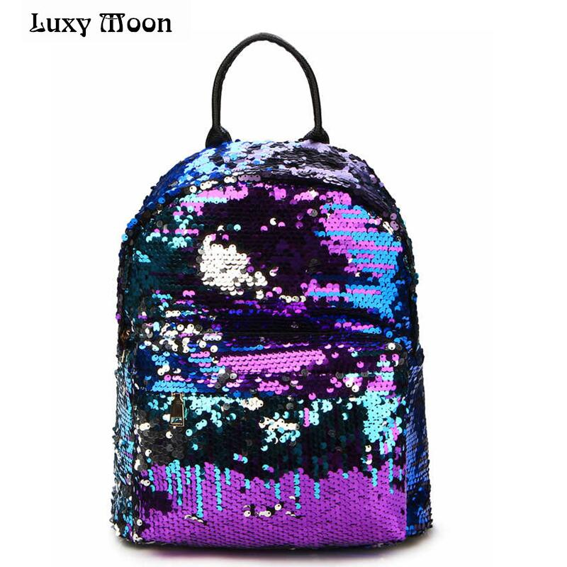 2018 Most Fashion Mochilas Women All-match Sequins Backpack Luxury Paillette Girls Small Travel Princess Bling Backpacks ZD215 2017 new women girl children all match bag pu leather sequins backpack girls small travel princess bling backpacks
