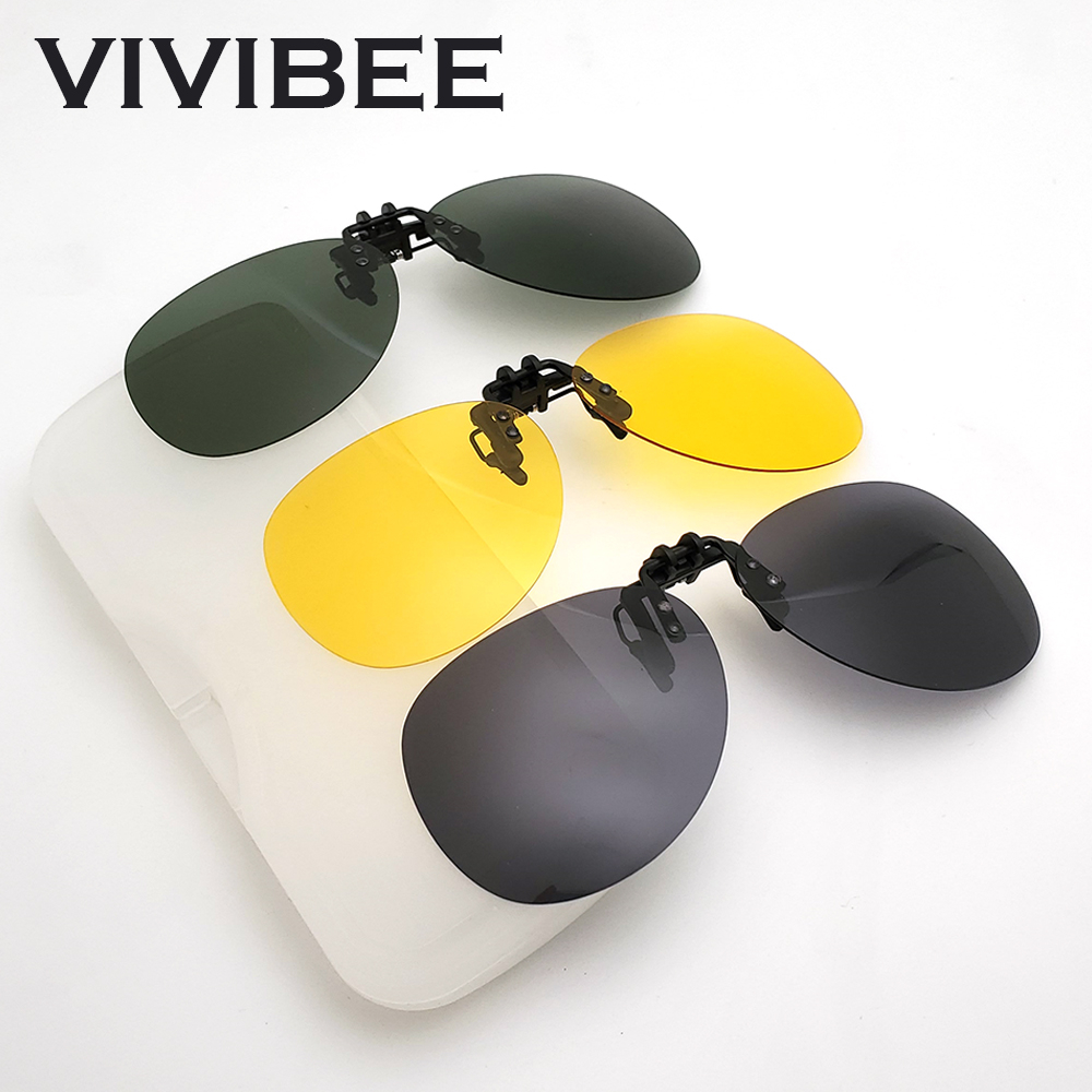 283c32253258a Rimless Round Flip up Clip on oversized Sunglasses men polarized Aviation  Fishing Polarised Big Driving Prescription Glasses