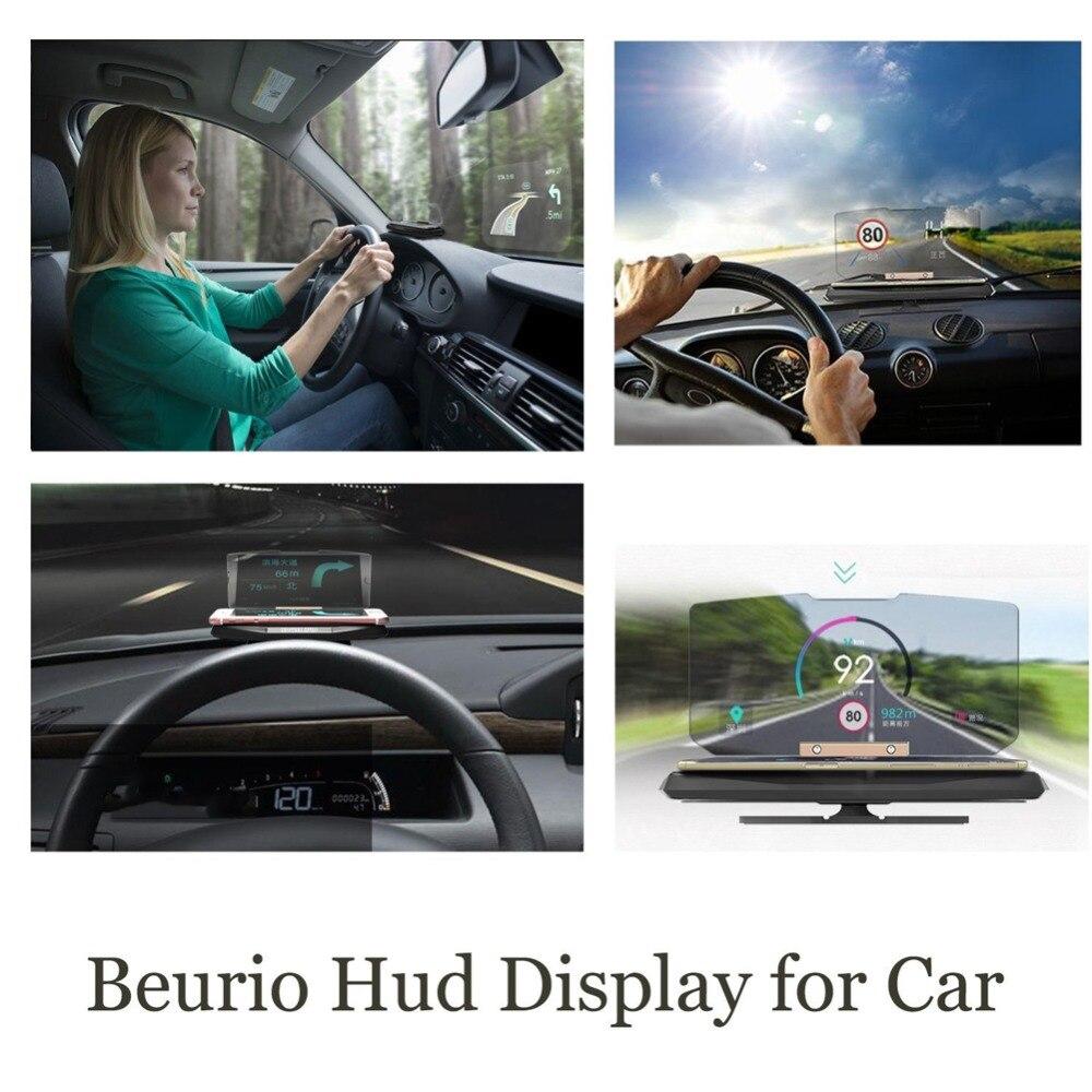 Universal Car Windscreen Projector HUD Head Up Display Soporte para - Accesorios y repuestos para celulares - foto 3