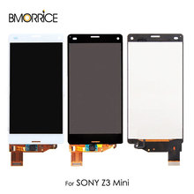For Sony Xperia Z3 mini D5803 D5833 Compact LCD Display Touch Screen Digitizer Assembly Replacement No Frame Original 4.6'' white touch screen lcd display for sony xperia z3 mini compact d5803 d5833 digitizer assembly bezel frame tools free shipping