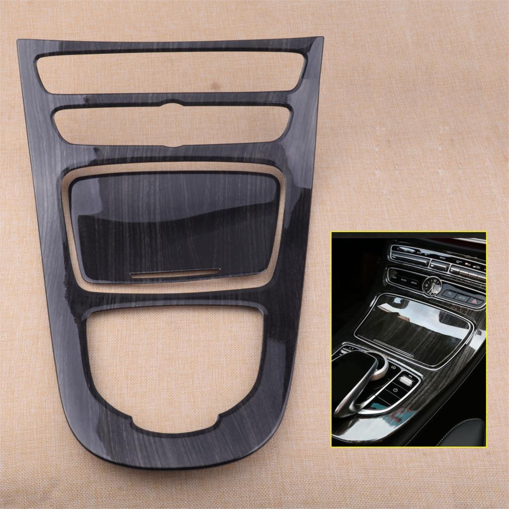 for Mercedes Benz E-Class W213 2016-17 Wood Grain Console Gear Panel Cover Trim