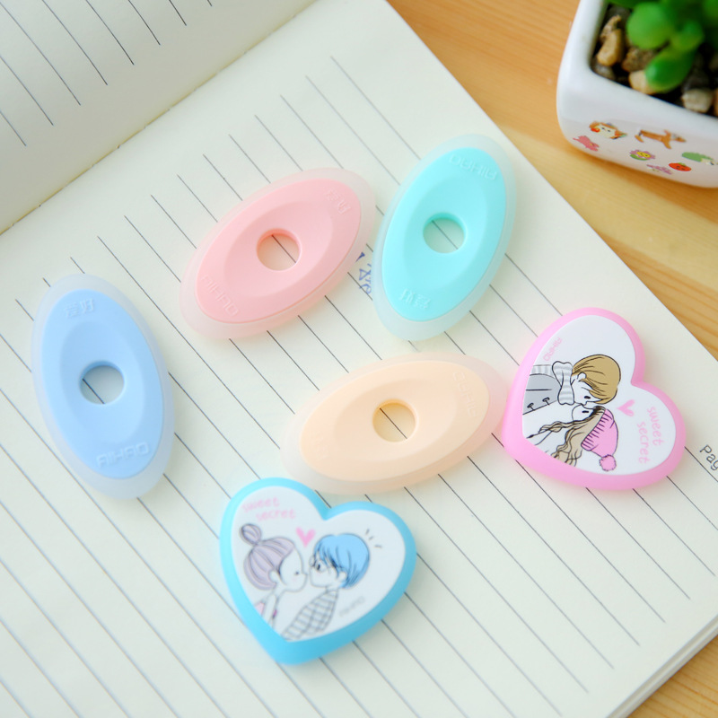1 PCS Cute Designer Student Friction Ink Erase Eraser For Magical Writing Neutral Pen Eraserable Pens